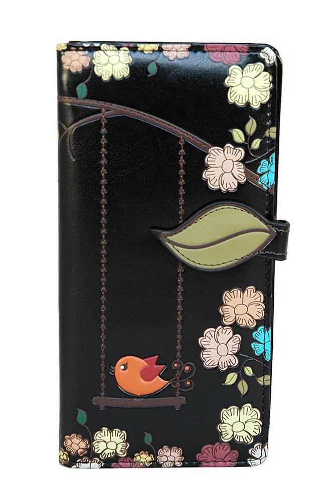 Swing Birds - Large Zipper Wallet