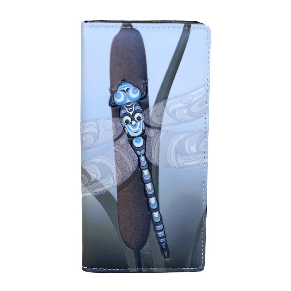 Spring Dragonfly - Large Zipper Wallet