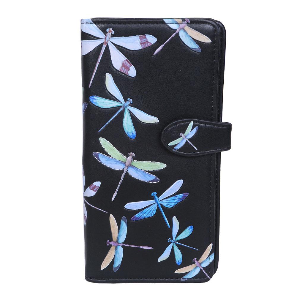 A Beauty of Dragonflies - Large Zipper Wallet