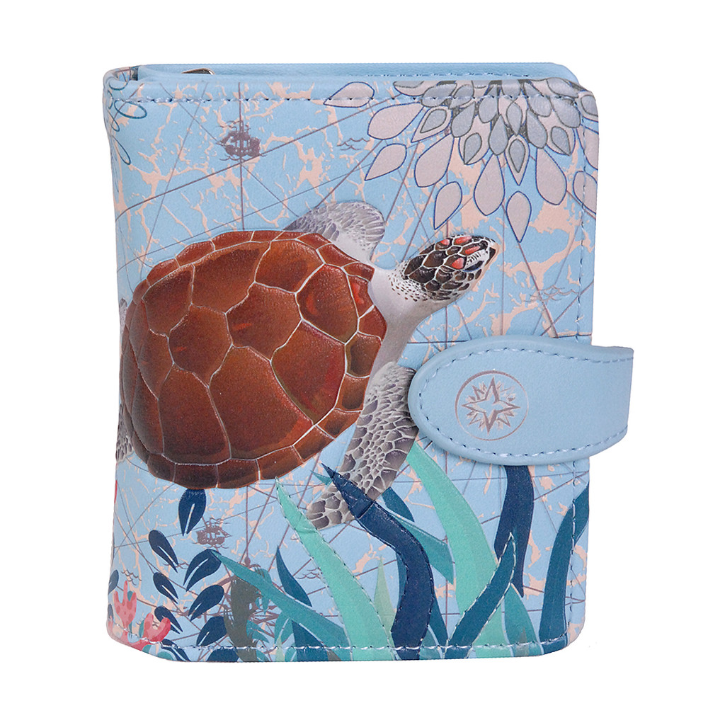 Sea Turtle - Small Zipper Wallet