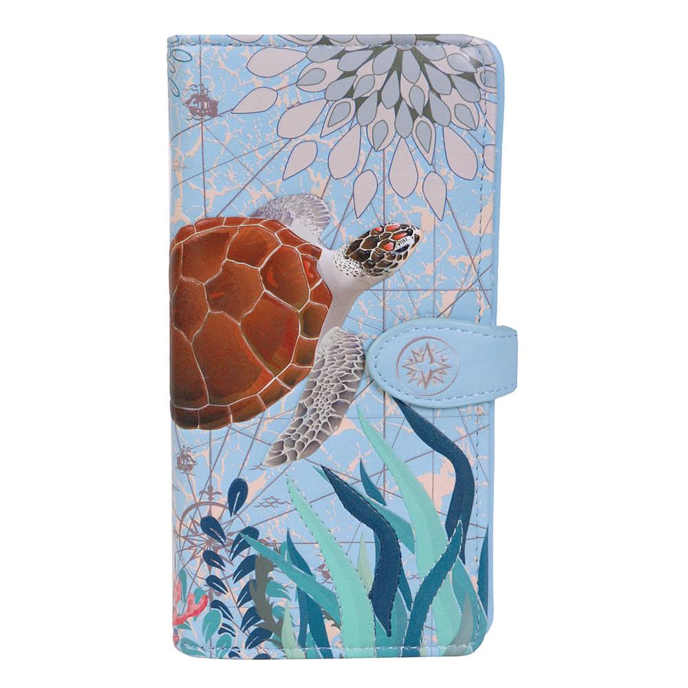 Sea Turtle - Large Zipper Wallet