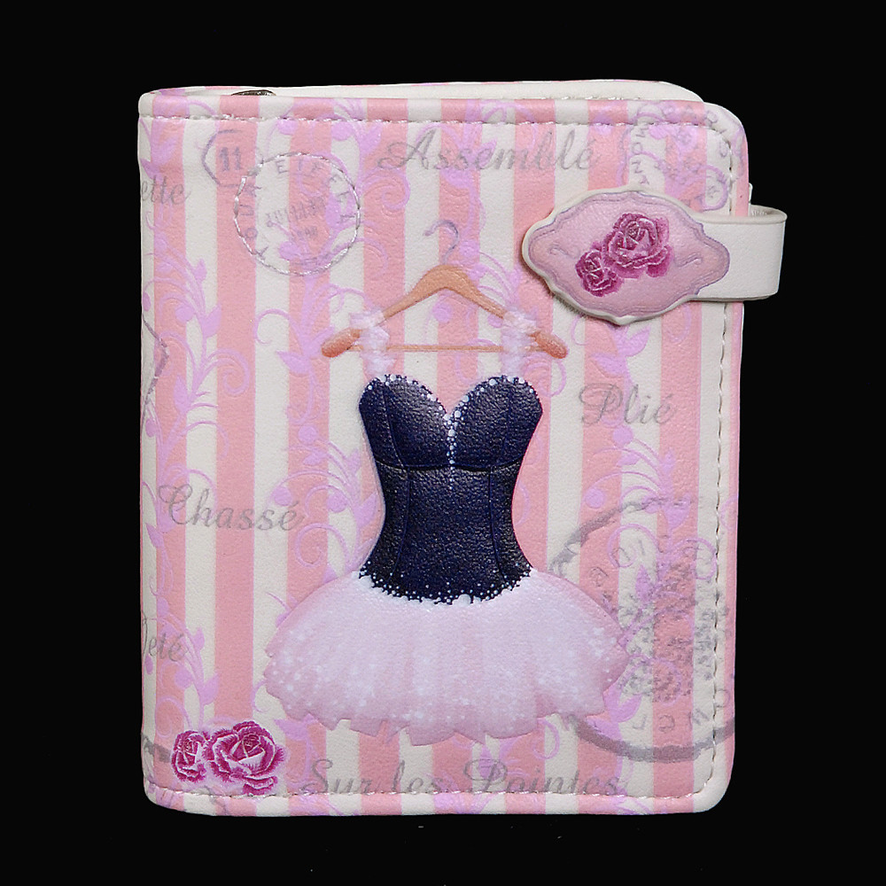 Vintage Ballerina - Small Zipper Wallet
