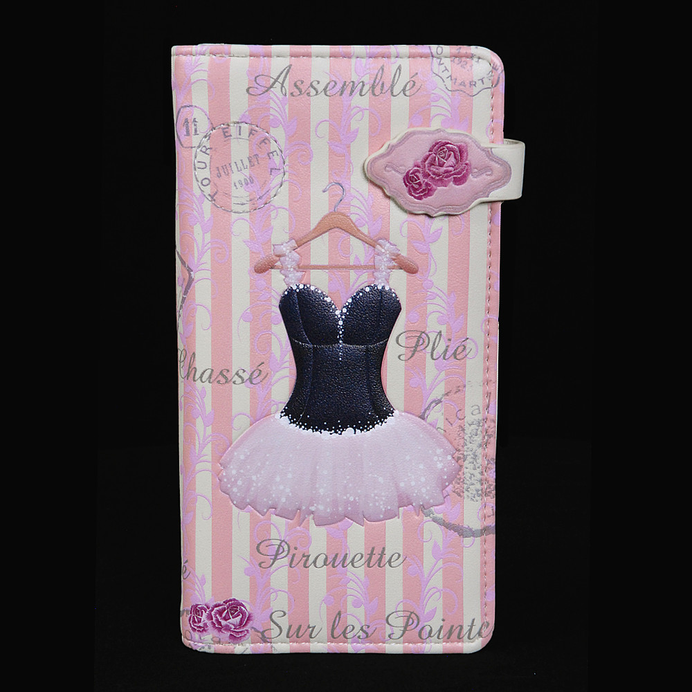 Vintage Ballerina - Large Zipper Wallet