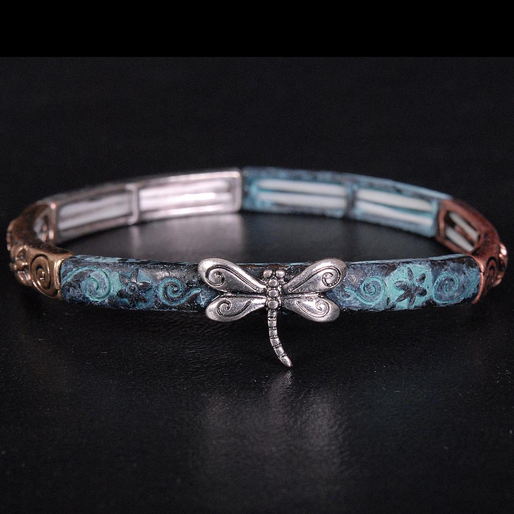 Patina Dragonfly Bracelet
