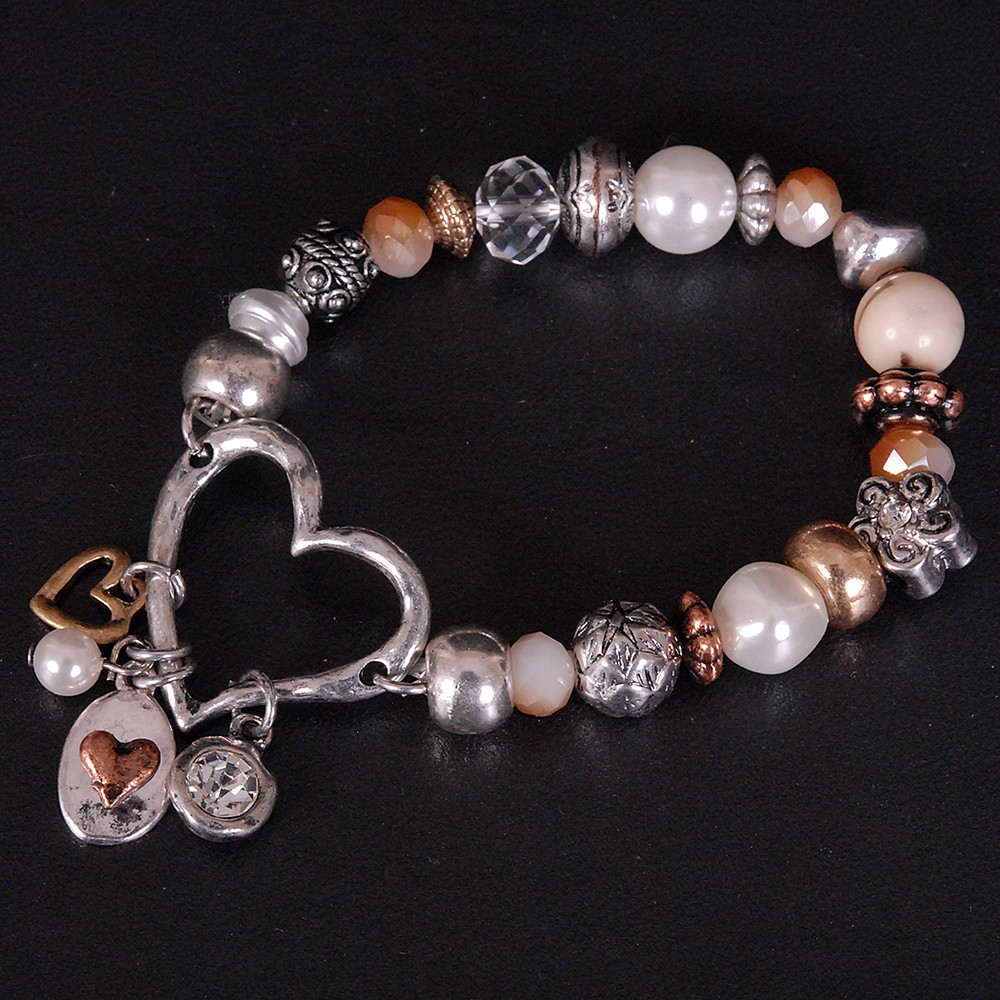 Charming Heart Stretch Bracelet