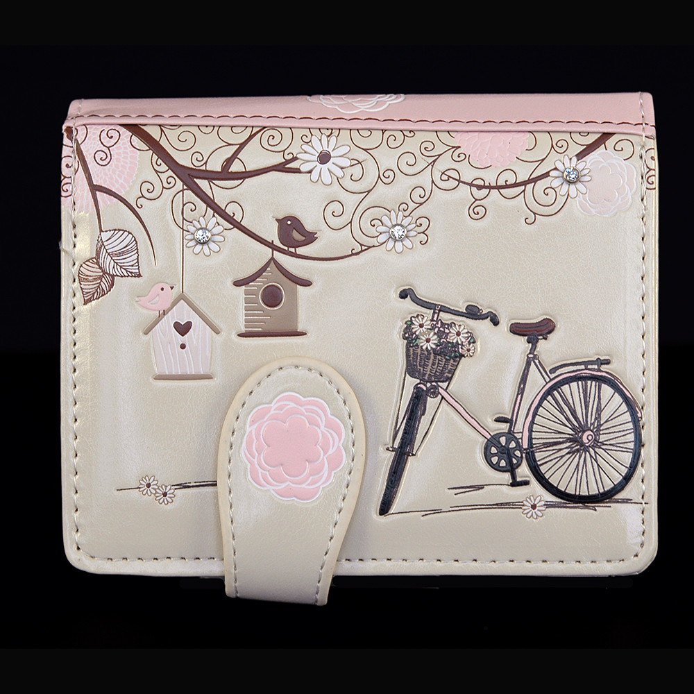 """Vintage Postcard """"Let's Go For A Ride"""" - Small Zipper Wallet"""