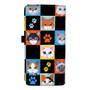 Cat Checkers - Large Zipper Wallet