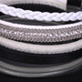 Grey, White and Black - Wrap Bracelet