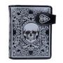 Skull Card - Small Zipper Wallet