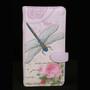 Vintage Dragonfly Floral - Large Zipper Wallet