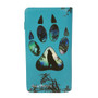 Wolf Paw Print - Large Zipper Wallet