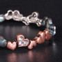 Chain of Hearts - Patina Bracelet