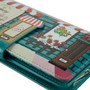 Vintage Store Front - Large Zippered Wallet - Teal