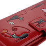 Crazy Cats - Large Zipper Wallet - Red