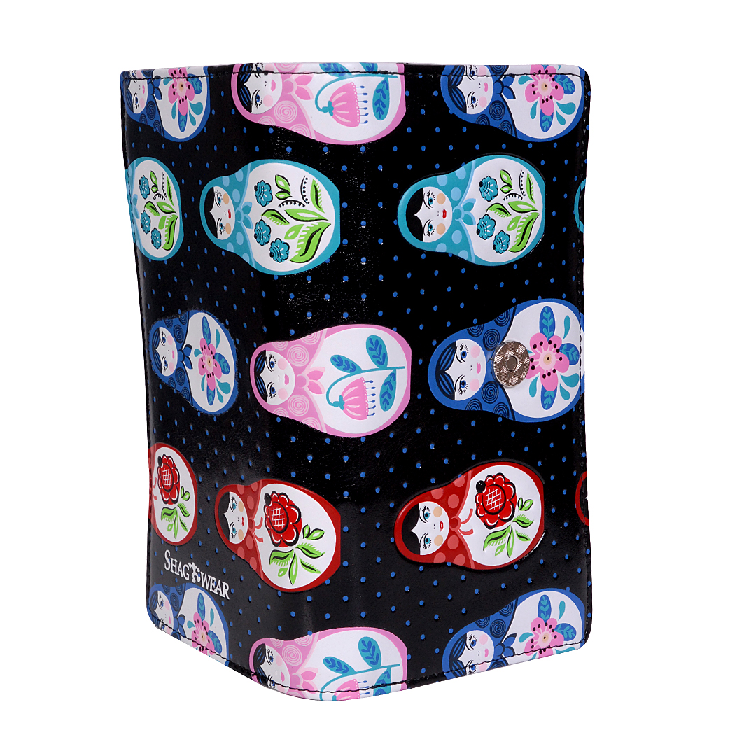 TYDhey Russian Doll Fabric Classic Buckle Coin Purses Leather Kiss-Lock Change Wallets