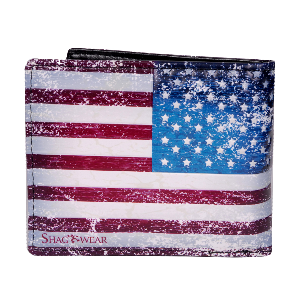 Fashion Stars and Stripes wallet USA National Flag Leather Wallets Men/'s Wallets