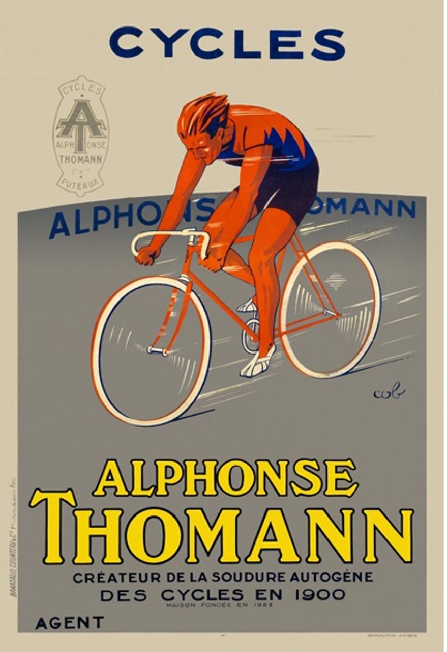 Cycles Alphonse Thomann Poster Vintage Cycling Poster