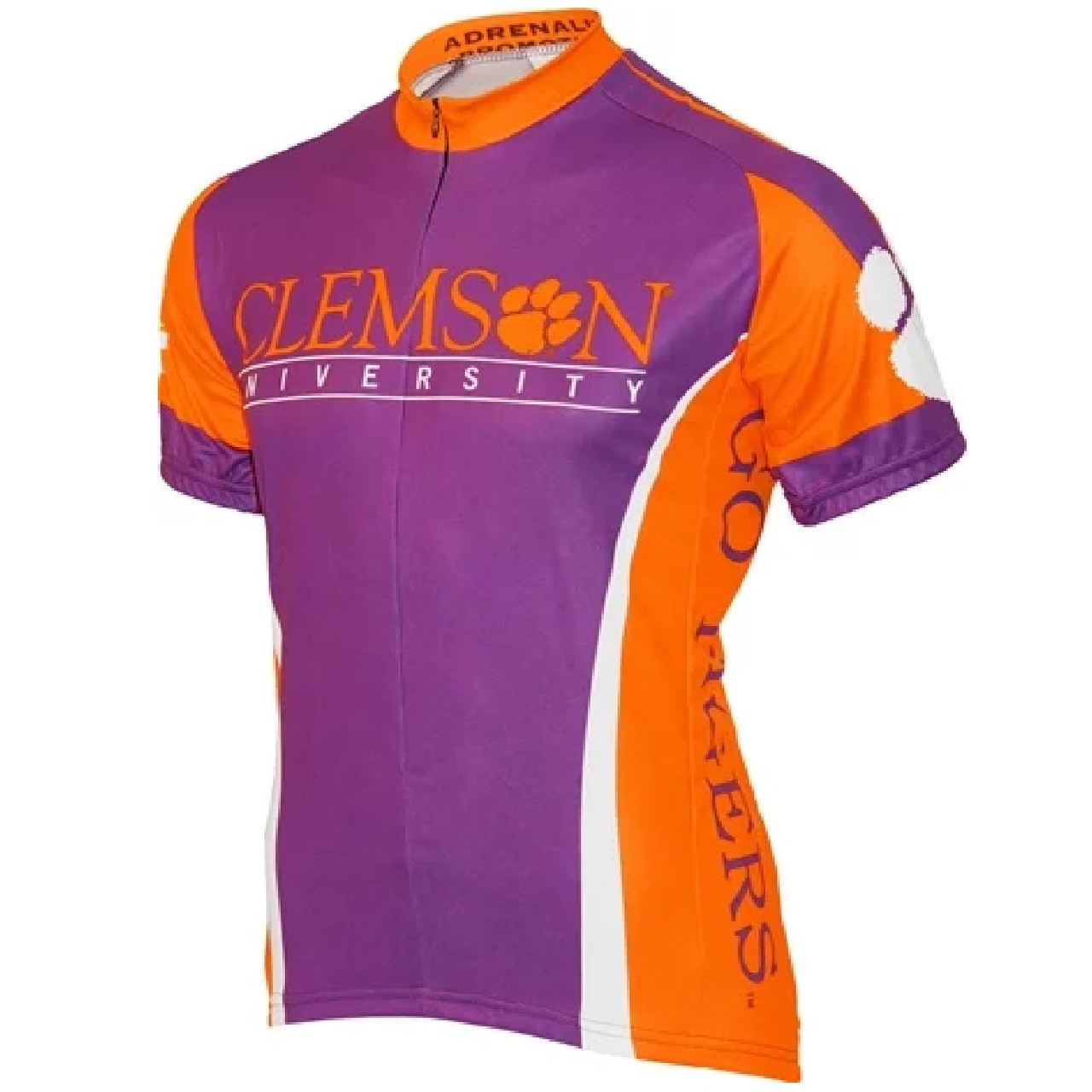 check out d0f5c 6304d Adrenaline Promo Clemson University Tigers College 3/4 zip Men's Cycling  Jersey