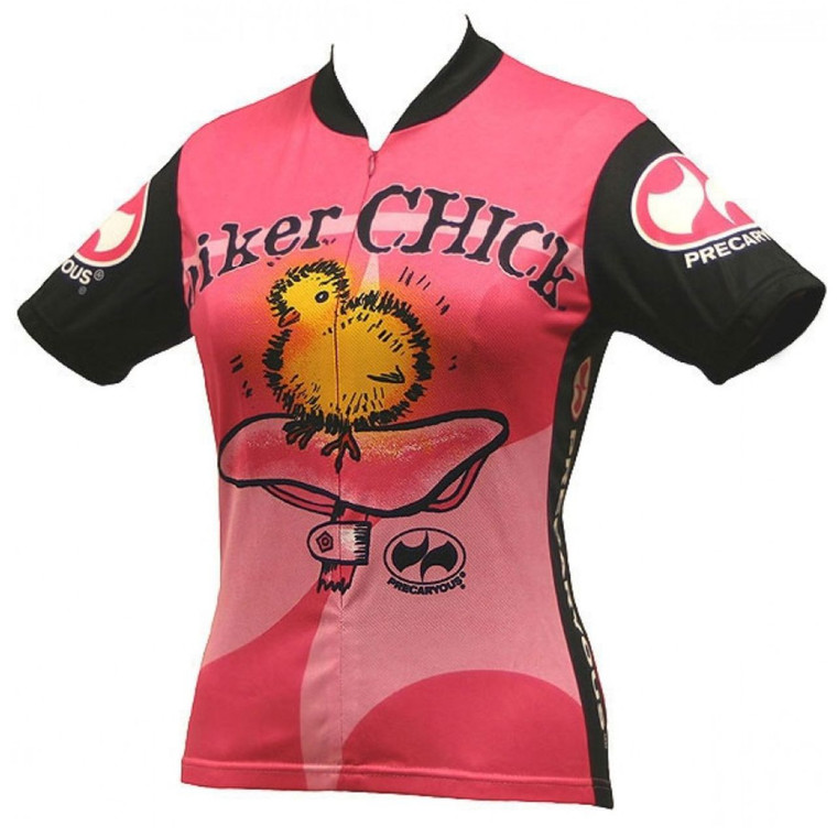 Biker Chick Women's Short sleeve Half zip cycling jersey Pink