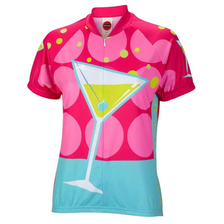 Martini Time Women's Short sleeve Half zip cycling jersey