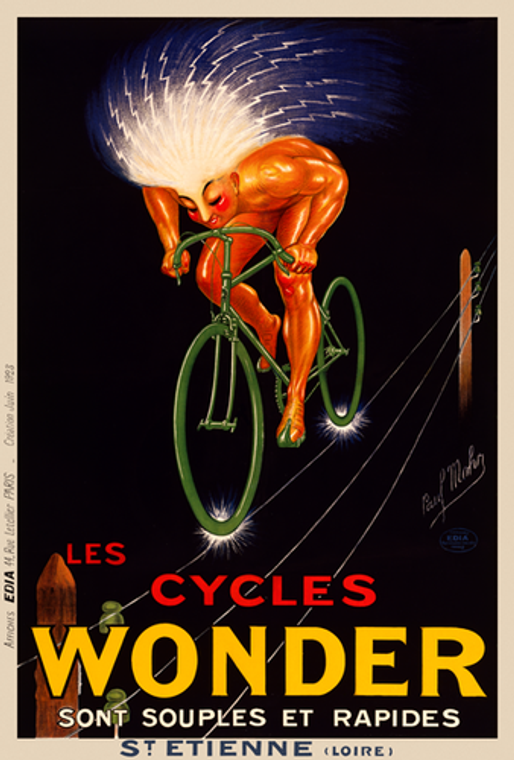 Cycles Wonder Poster Vintage cycling poster