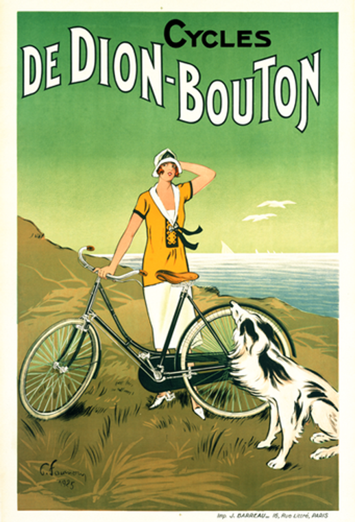 Cycles De Dion-Bouton Vintage Cycling Poster