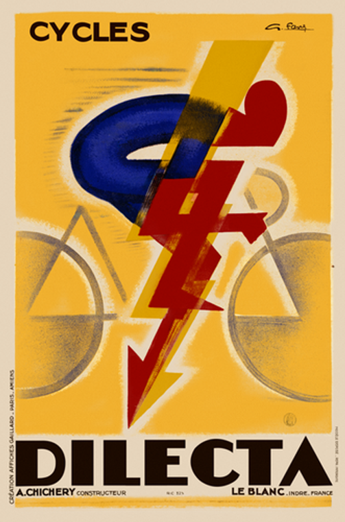 Cycles Dilecta 1926 vintage Cycling Poster