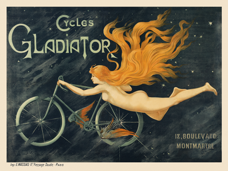 1895 Cycles Gladiator Fine Art Bicycle Vintage Cycling Poster