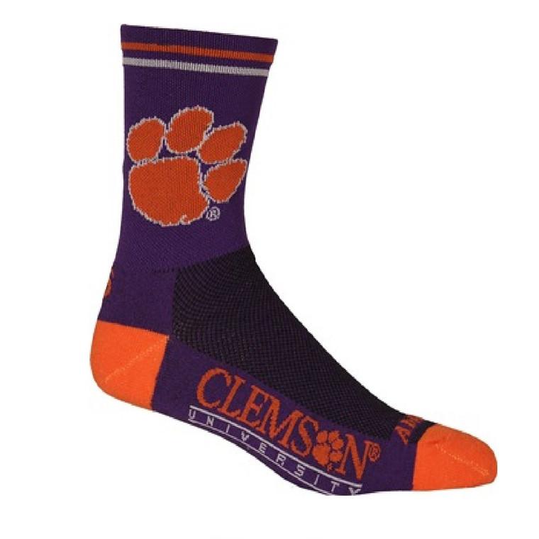 "Clemson University Tigers crew length-5"" Multi Purpose Cycling Socks"