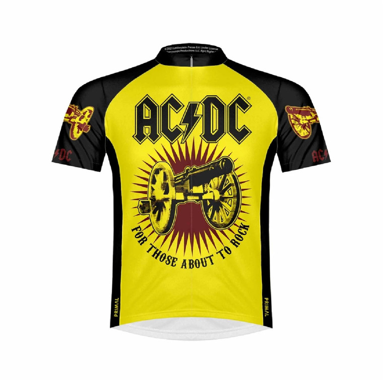 Primal Wear AC/DC For Those About to Rock Cycling jersey Front BoyerCycling