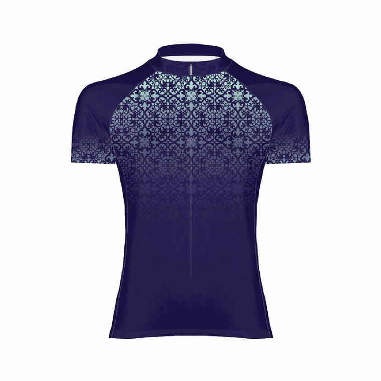 Primal Wear Mosaic Cycling Jersey Blue Front @BoyerCycling