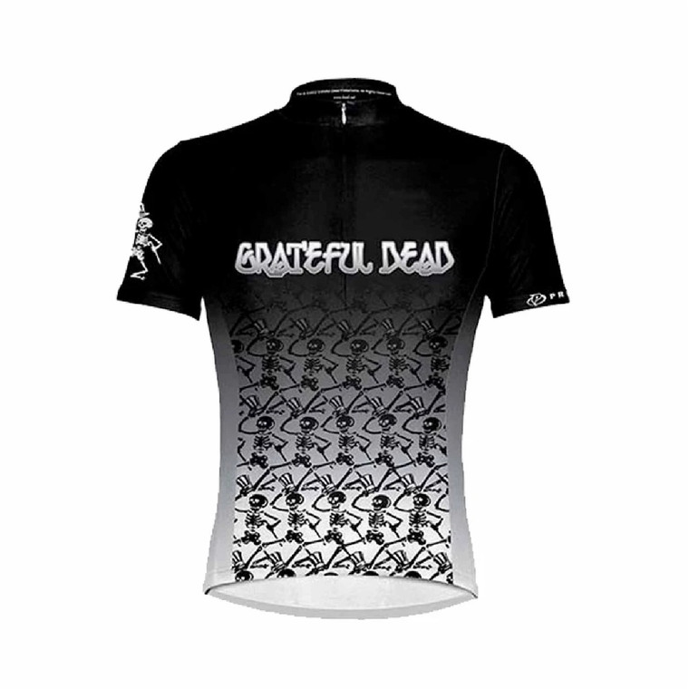 Grateful Dead Dancing Skeletons Cycling Jersey Front @BoyerCycling