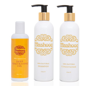 Value pack for 100% natural hair care regime.