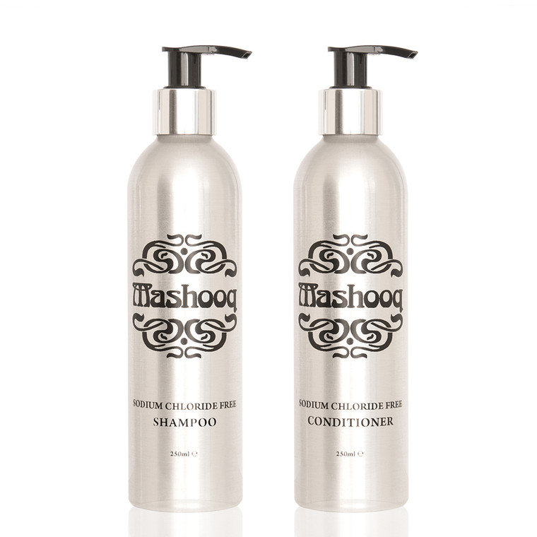 Pack of sodium chloride free (also SLS, SLES Paraben Fragrance free) shampoo and conditioner for Keratin treated and extensions.