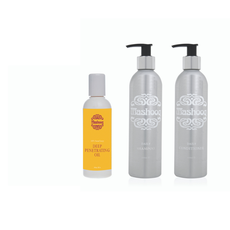 Mashooq Daily Shampoo and Conditioner + 100ml oil