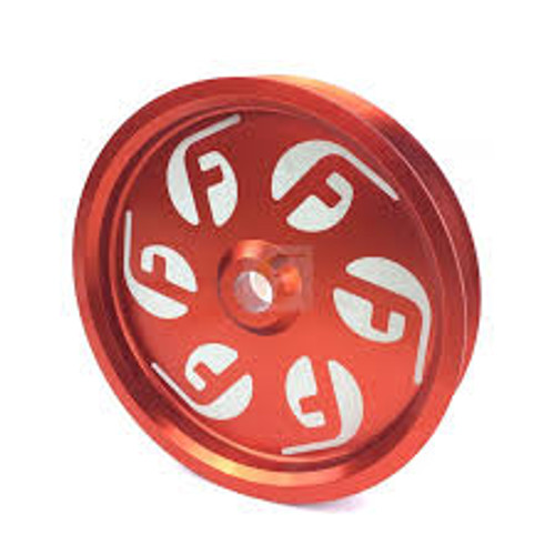 Cummins Dual Pump Pulley (for use with FPE dual pump bracket) Red