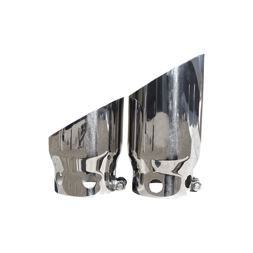 """MBRP 2008-2020 Ford - F250/350/450 6.4L / 6.7L Powerstroke 4"""" inlet 5"""" Tip Cover Set - 6¾"""" and 9¾"""" in length, T304"""