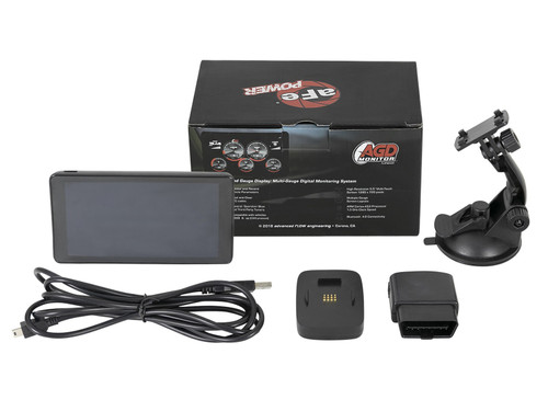 AFE AGD Advanced Gauge Display Monitor & SCORCHER BLUE Bluetooth Power Module Ford Diesel Trucks 11-16 V8-6.7L (td)