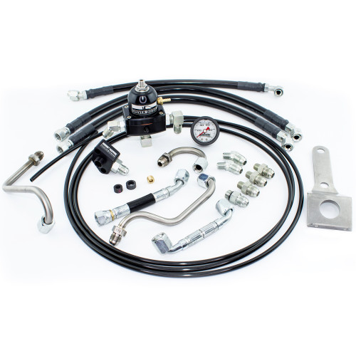 Strictly Diesel DD-73FS-STD-RRK-V3 Driven Diesel 7.3L Standard Regulated Return Fuel System Kit  99-03 Powerstroke Super Duty