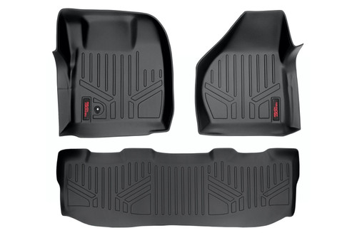 Rough Country Heavy Duty Floor Mats [Front/Rear] - (08-10 Ford Super Duty Crew Cab)