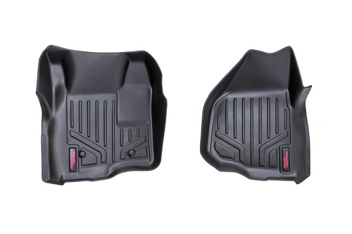 Rough Country  Heavy Duty Floor Mats [Front] - (11-16 Ford Super Duty | Depressed Pedal)