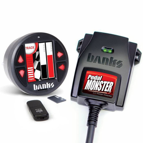 Banks Power 64313 PedalMonster Kit With iDash 1.8 DataMonster 2011-2021 Ford 6.7L Powerstroke | 2007-2021 Dodge 5.9L/6.7L Cummins | 2020-2021 GM 1500 3.0L Duramax