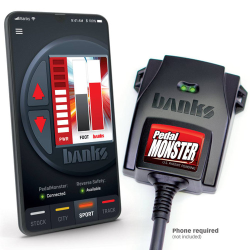 Banks PedalMonster®Throttle Sensitivity Booster, Standalonefor many Cadillac, Chevy/GMC, Chrysler, Dodge, Jeep, Nissan