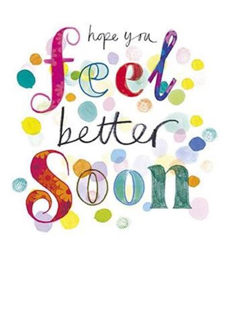 Get Well Card Feel Better