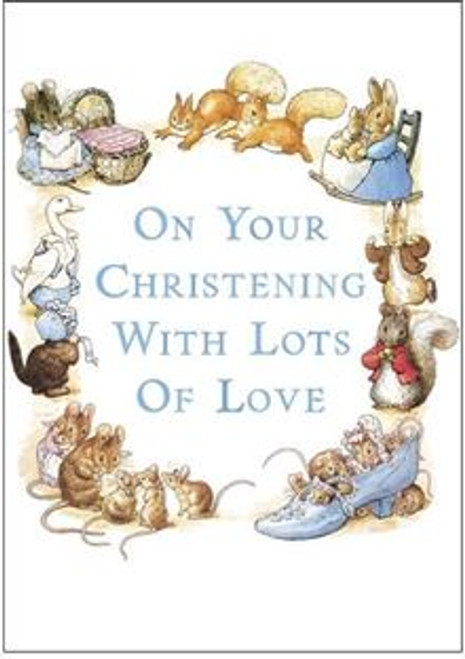 Card Beatrix Potter Christening