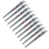Bosch 10 Pack of 6-Inch 6 TPI Reciprocating Saw Blades # RW66-10PK