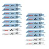 Bosch All-Purpose Reciprocating Saw Blade Sets, 16 Blades # R12V8PK-2PK