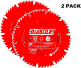 Diablo Genuine 10in x 90 Tooth Ultimate Polished Finish Saw Blade # D1090X-2PK