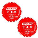 Diablo 2 Pack of Genuine OEM Replacement Circular Saw Blades # D0641X-2PK