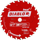"Diablo Genuine 6-1/2"" X 24T Framing Circular Saw Blade # D0624AX"